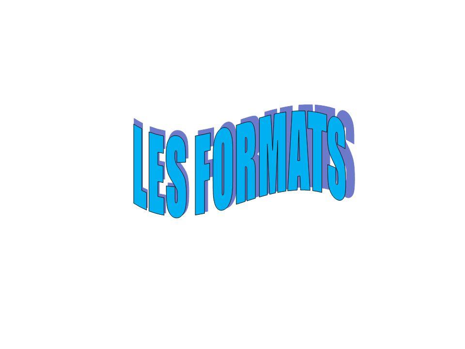 LES FORMATS