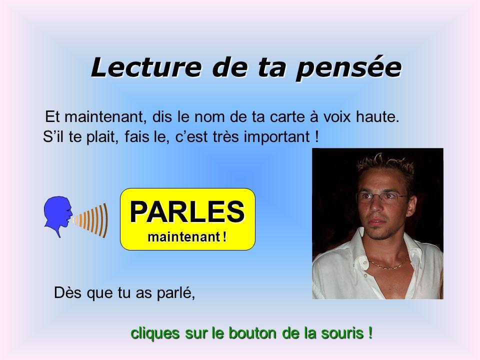 PARLES Lecture de ta pensée