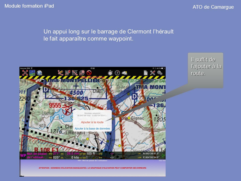 Un appui long sur le barrage de Clermont l'hérault