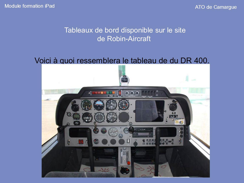 Voici à quoi ressemblera le tableau de du DR 400.