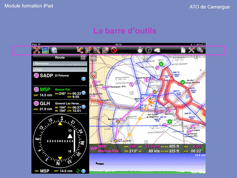 Module formation iPad ATO de Camargue La barre d'outils