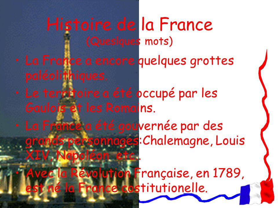 Histoire de la France (Queslques mots)