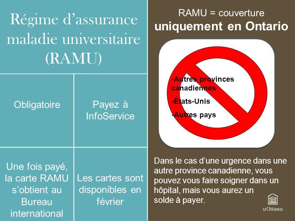 Régime d'assurance maladie universitaire (RAMU)