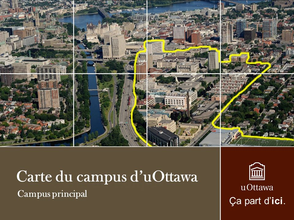 Carte du campus d'uOttawa