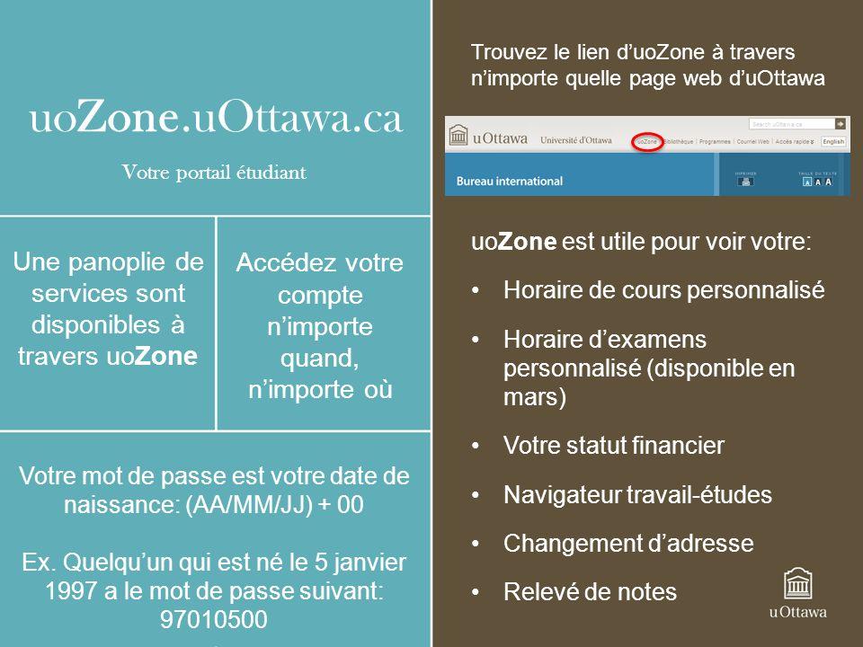 Trouvez le lien d'uoZone à travers n'importe quelle page web d'uOttawa