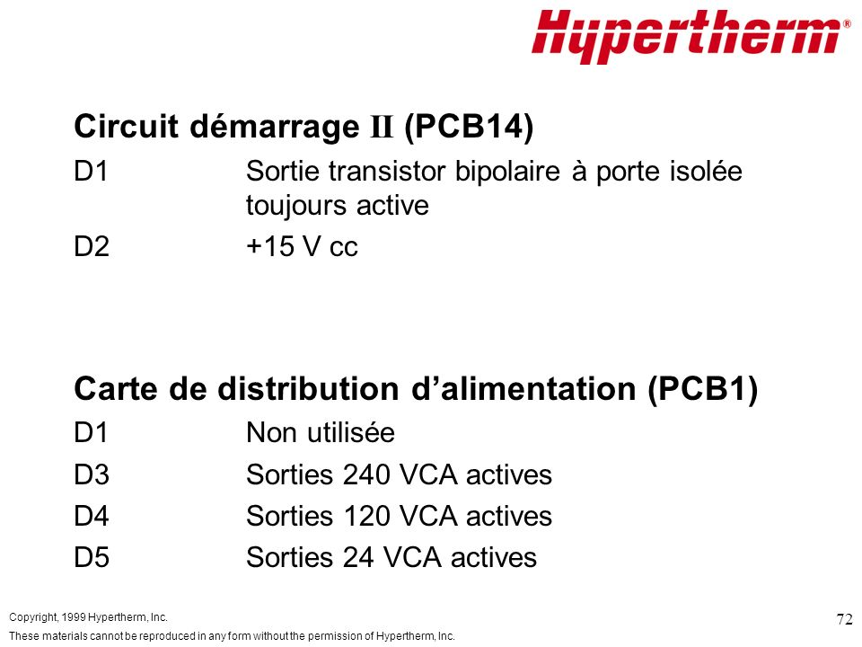 Circuit démarrage II (PCB14)