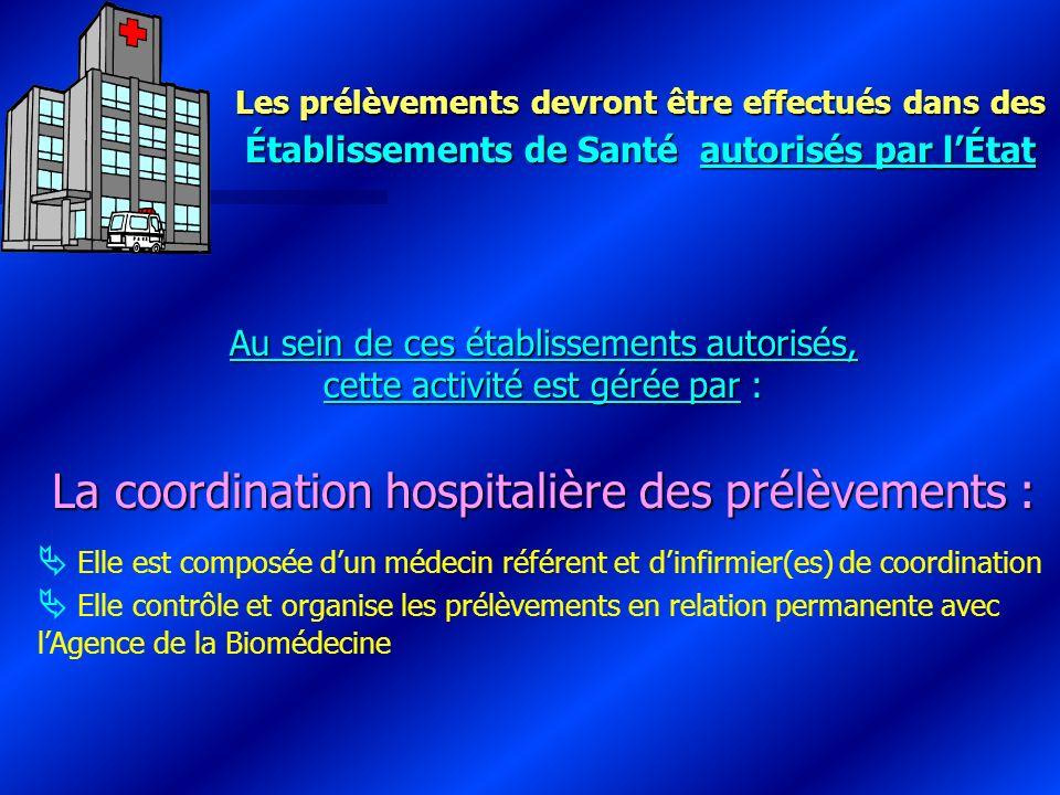 La coordination hospitalière des prélèvements :