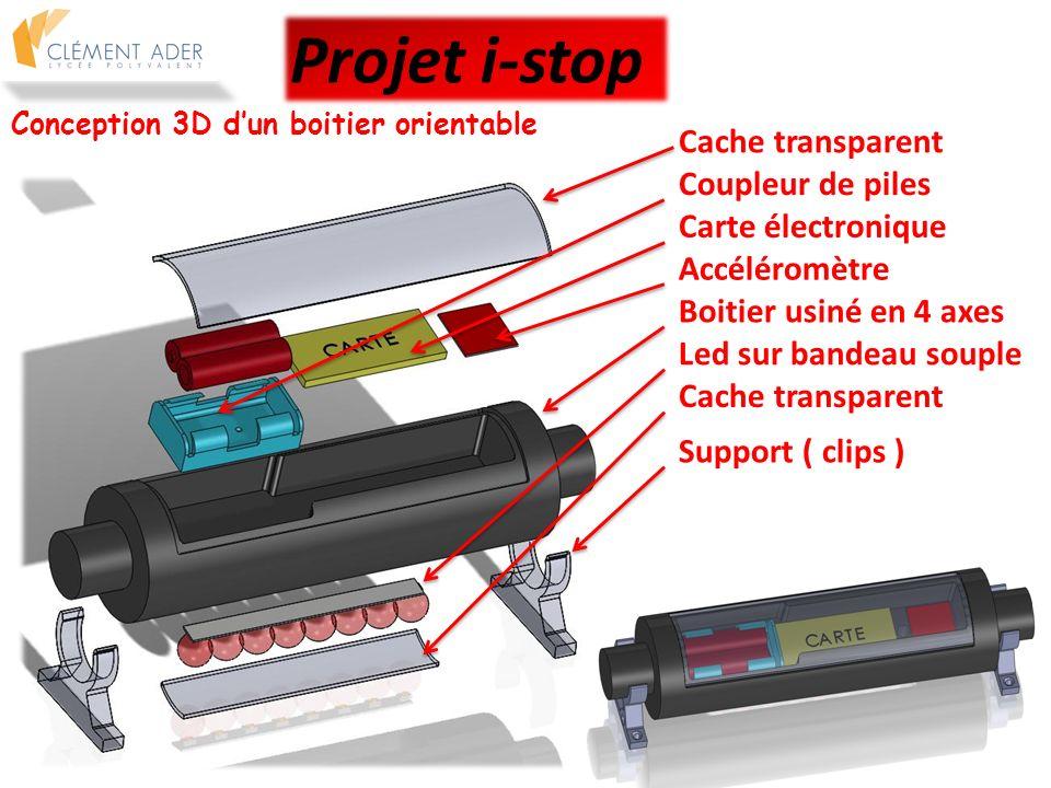 Projet i-stop Cache transparent Coupleur de piles Carte électronique
