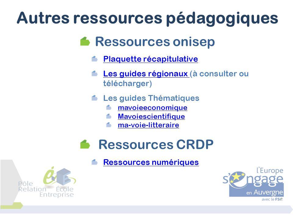 Autres ressources pédagogiques