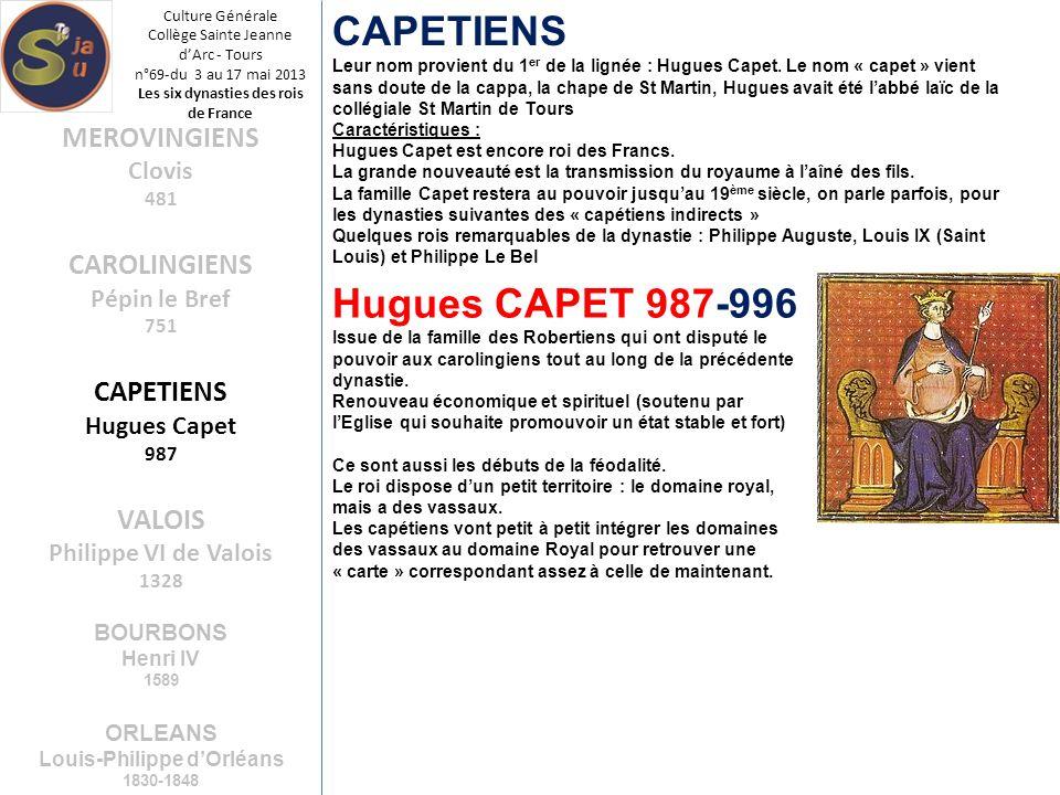Les six dynasties des rois de France Louis-Philippe d'Orléans