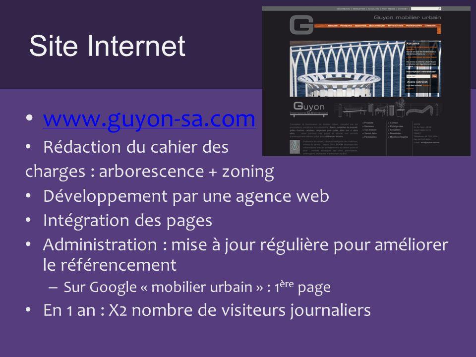 Site Internet www.guyon-sa.com Rédaction du cahier des