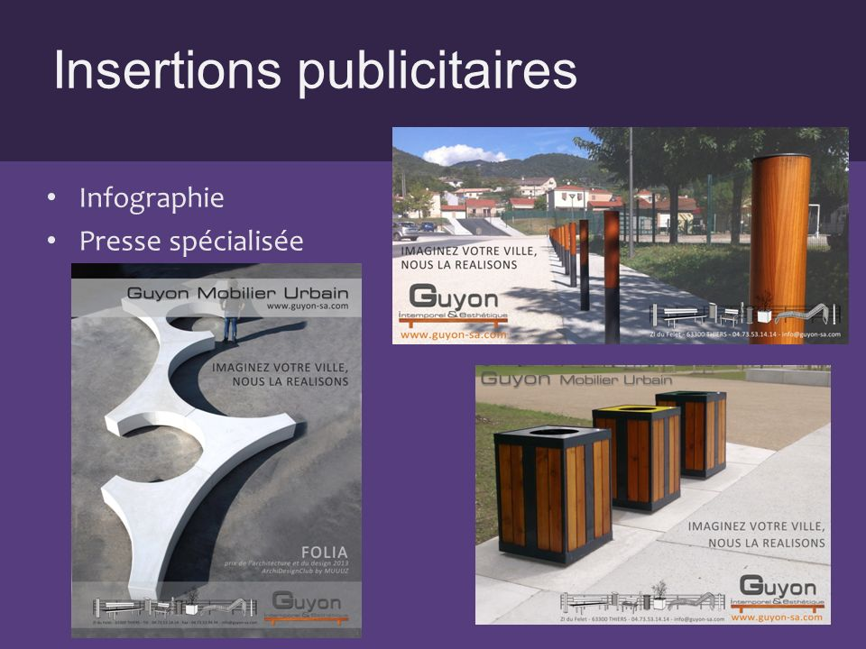 Insertions publicitaires