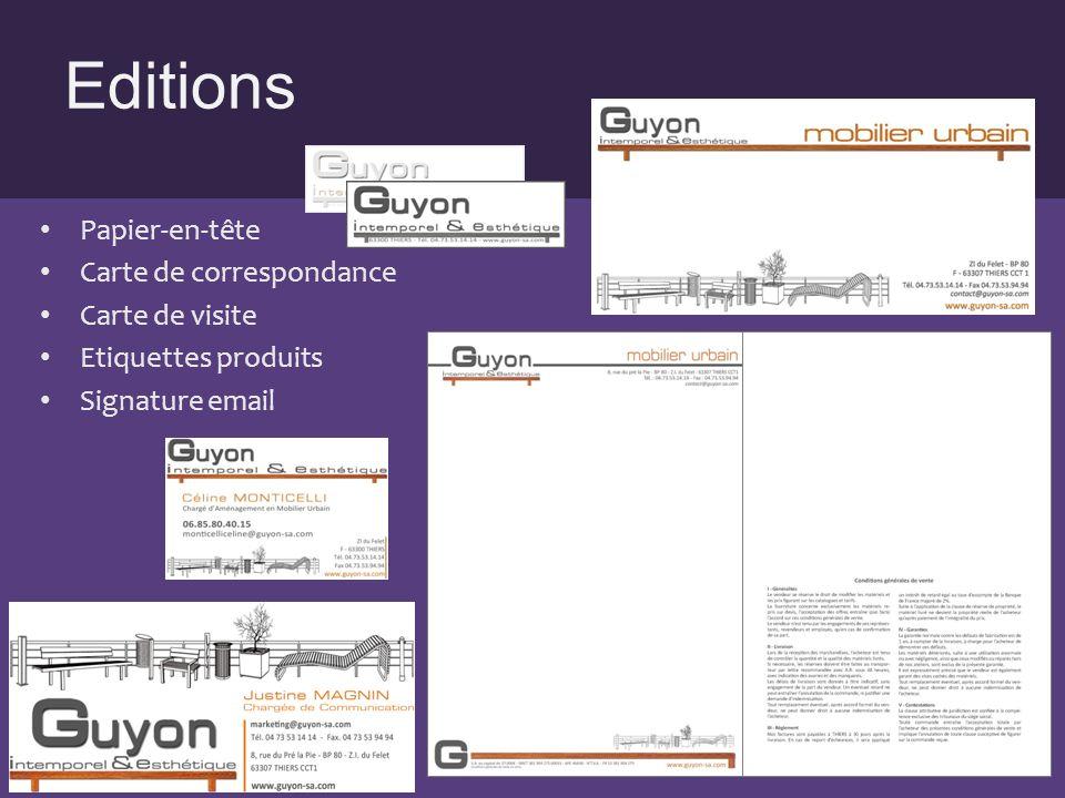 Editions Papier-en-tête Carte de correspondance Carte de visite