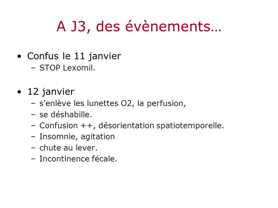 A J3, des évènements… Confus le 11 janvier 12 janvier STOP Lexomil.