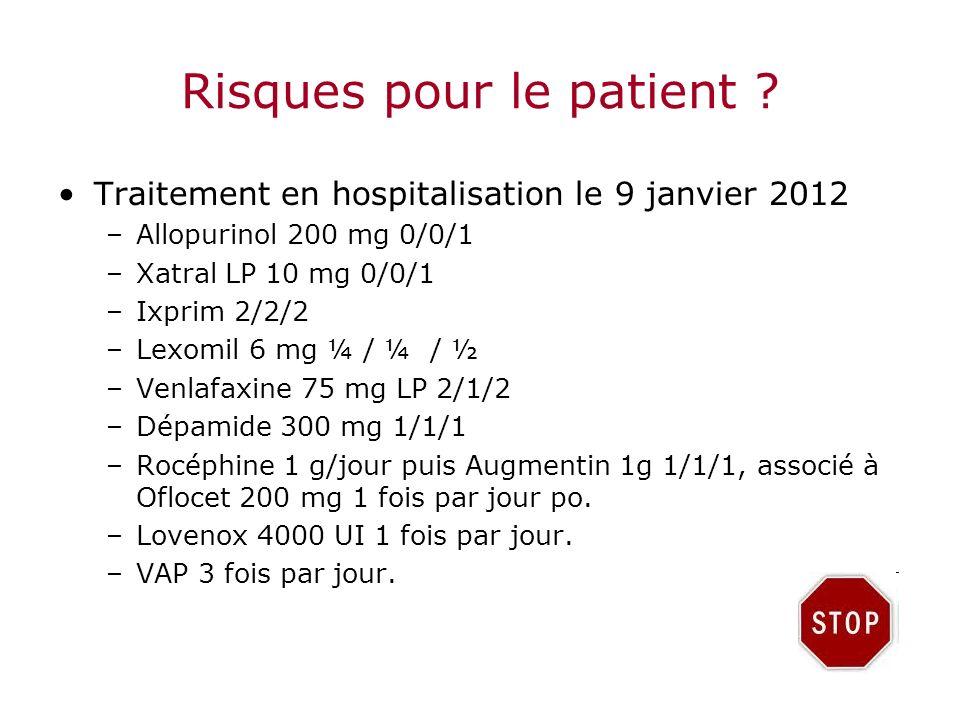 Risques pour le patient