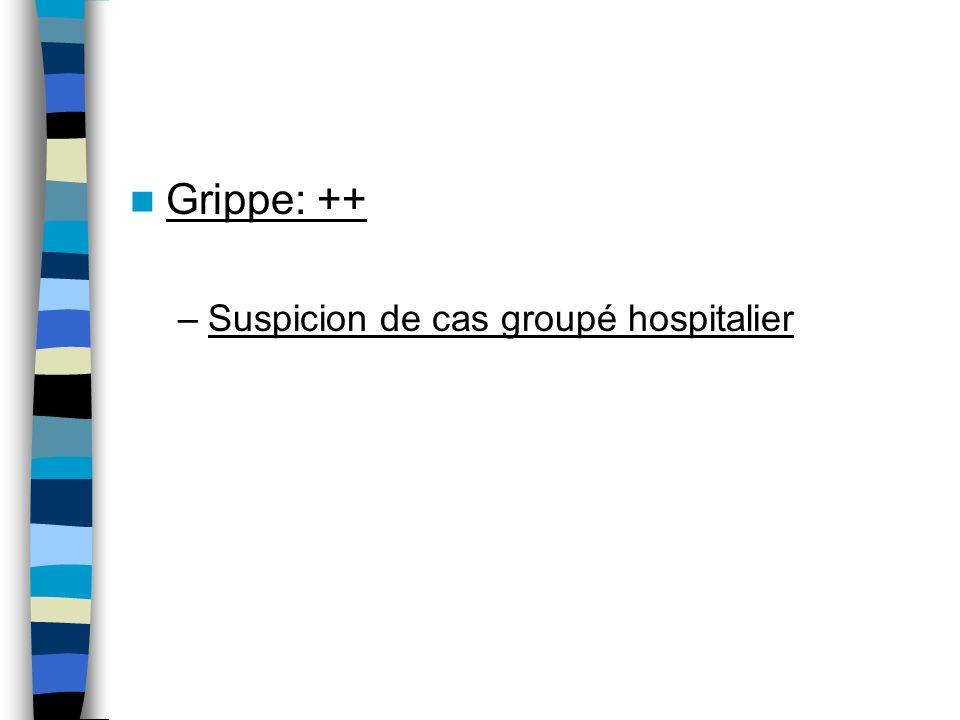 Grippe: ++ Suspicion de cas groupé hospitalier