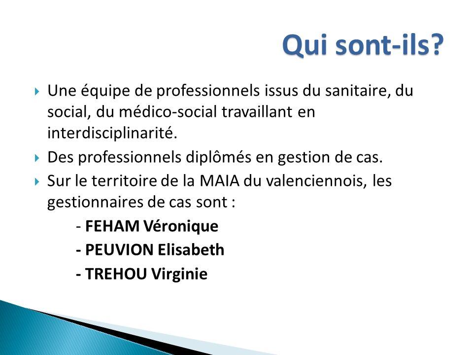 Qui sont-ils Une équipe de professionnels issus du sanitaire, du social, du médico-social travaillant en interdisciplinarité.