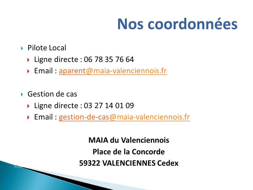 Nos coordonnées Pilote Local Ligne directe : 06 78 35 76 64