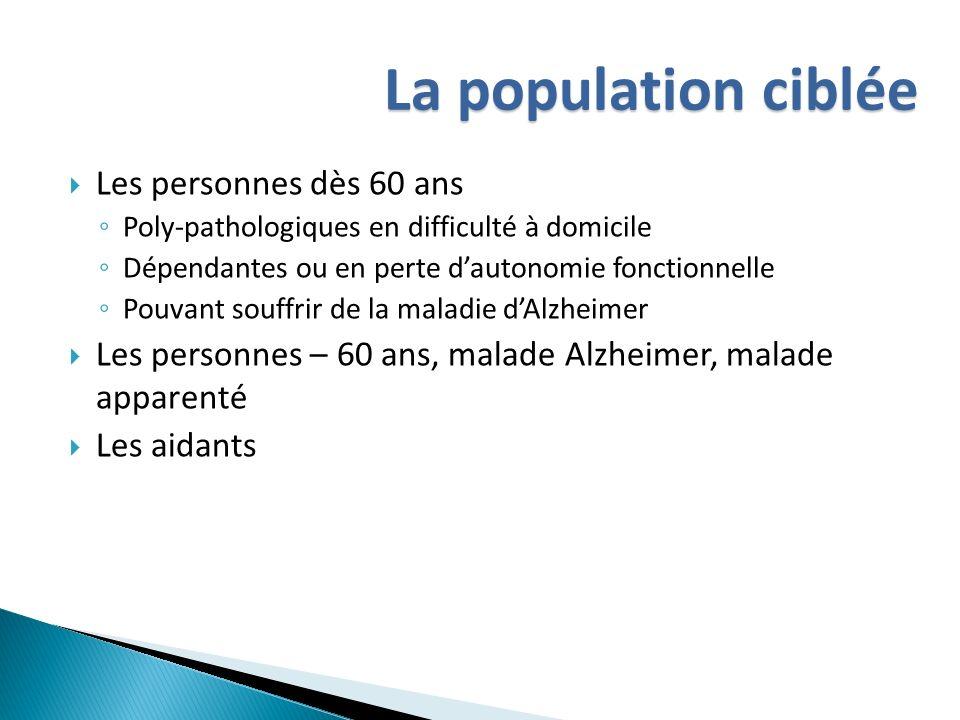 La population ciblée Les personnes dès 60 ans