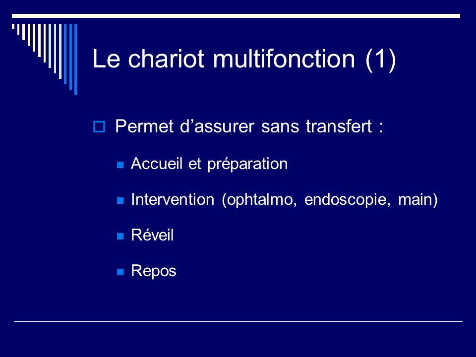 Le chariot multifonction (1)