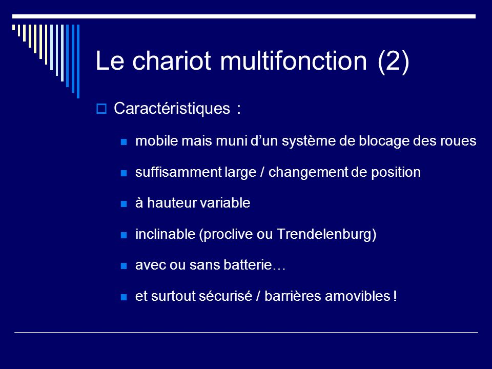 Le chariot multifonction (2)