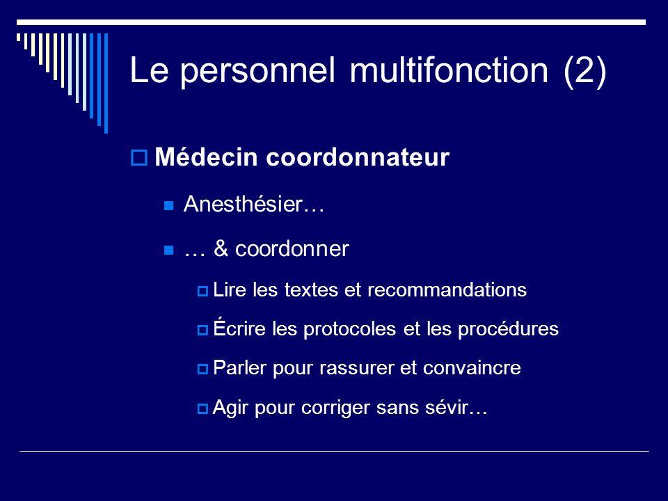 Le personnel multifonction (2)