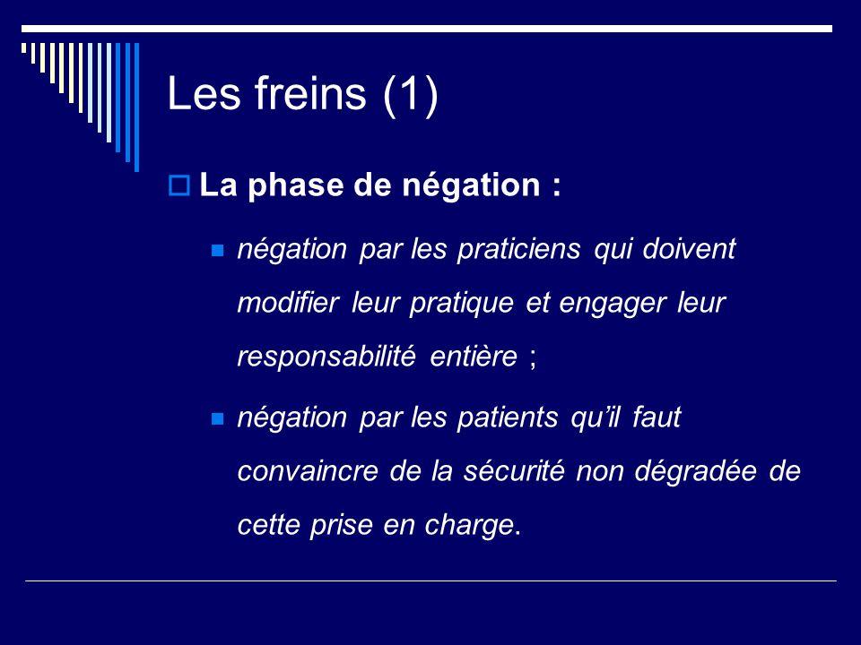 Les freins (1) La phase de négation :