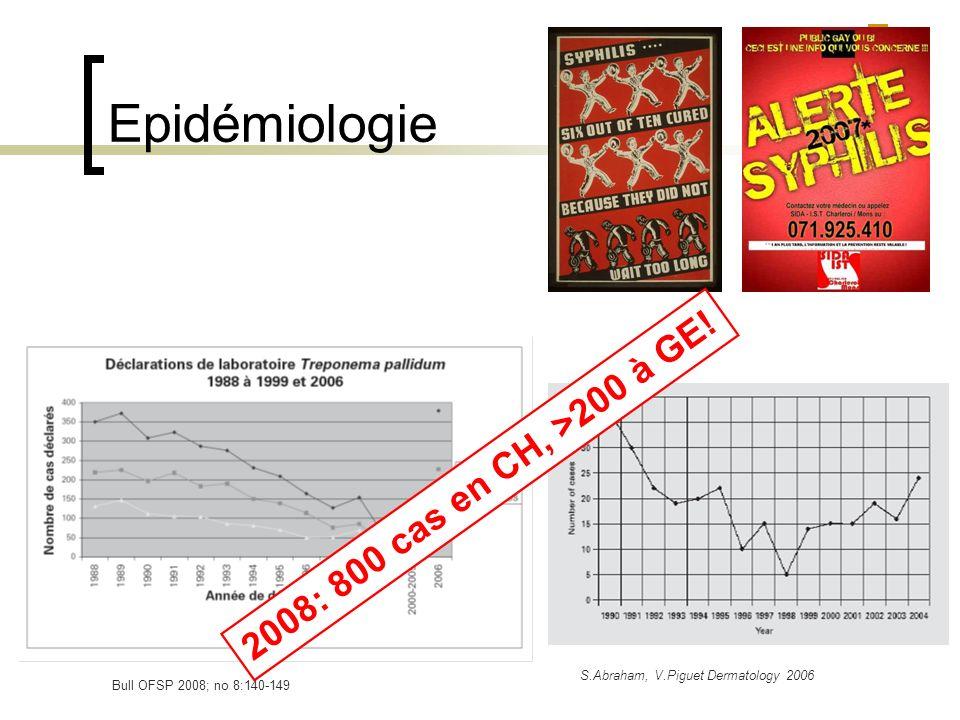 Epidémiologie 2008: 800 cas en CH, >200 à GE!