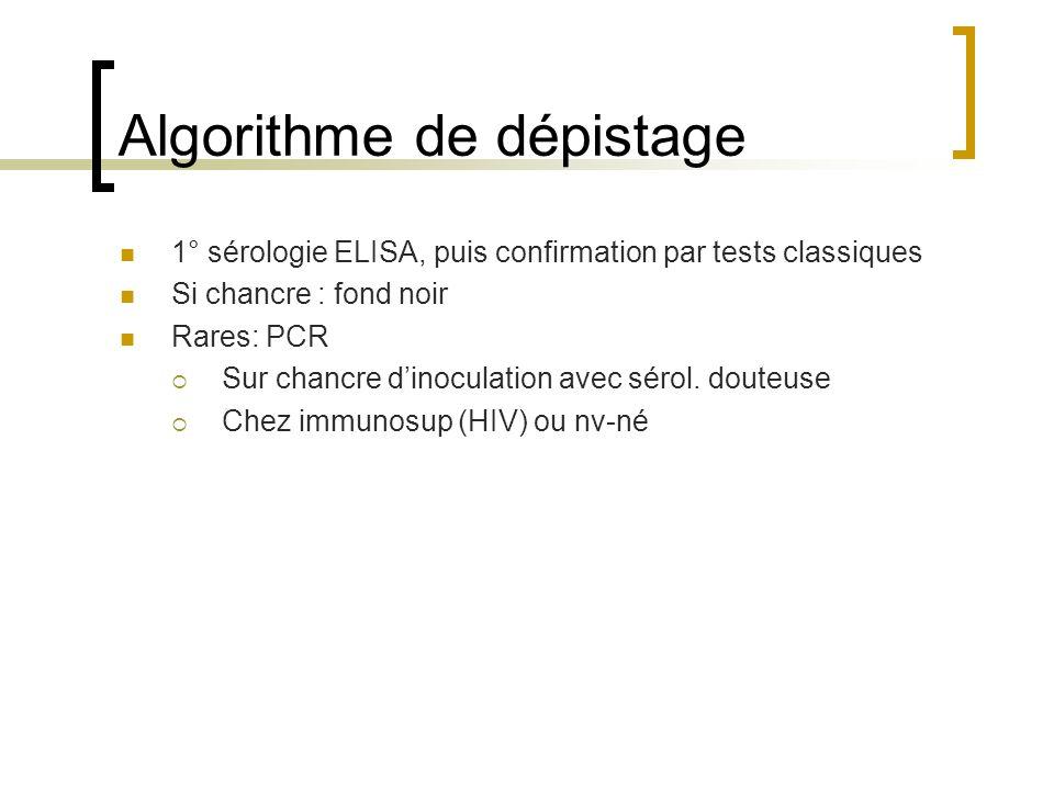 Algorithme de dépistage