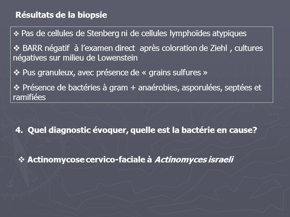 4. Quel diagnostic évoquer, quelle est la bactérie en cause