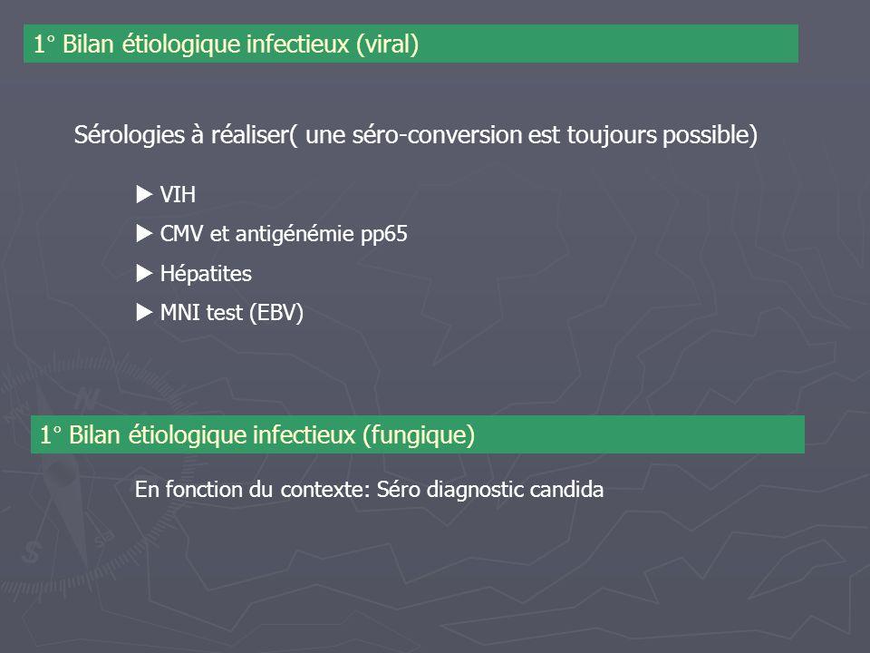 1° Bilan étiologique infectieux (viral)