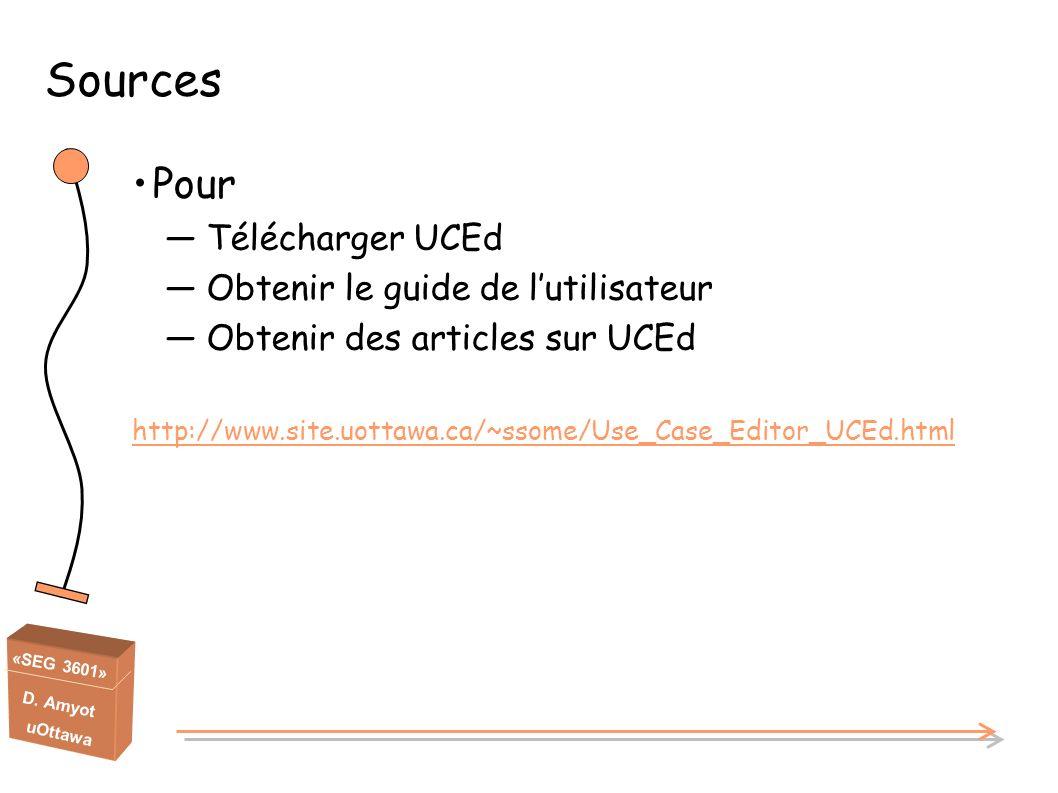 Sources Pour Télécharger UCEd Obtenir le guide de l'utilisateur