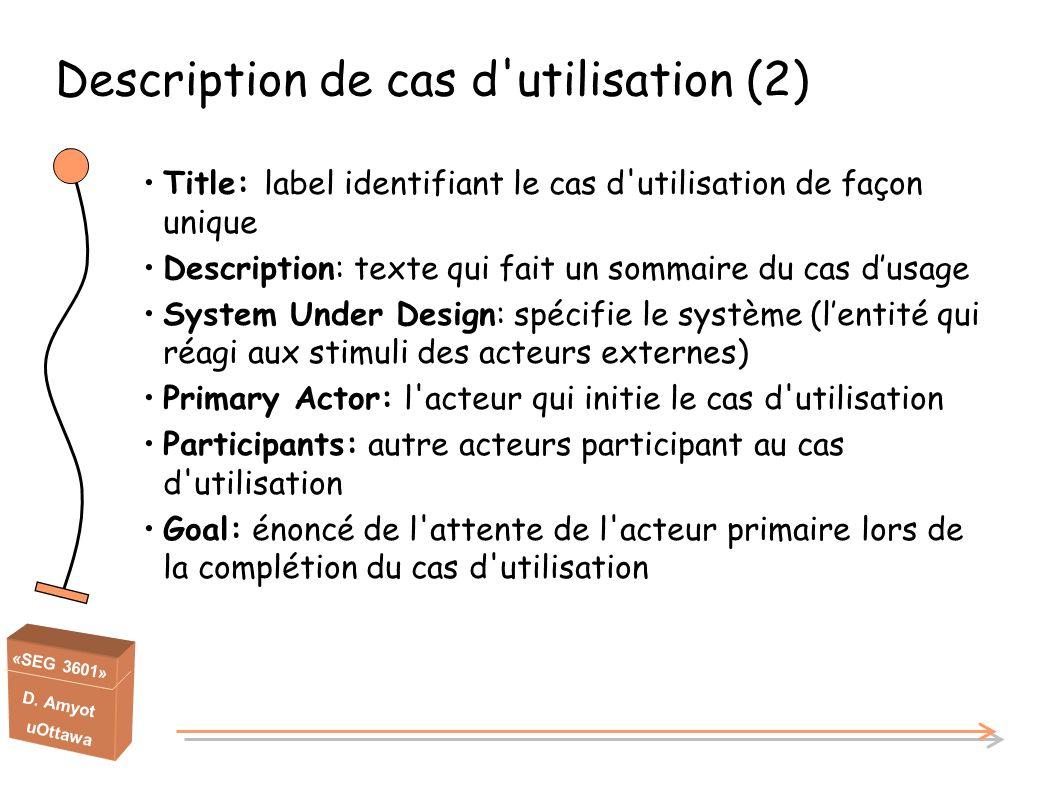 Description de cas d utilisation (2)