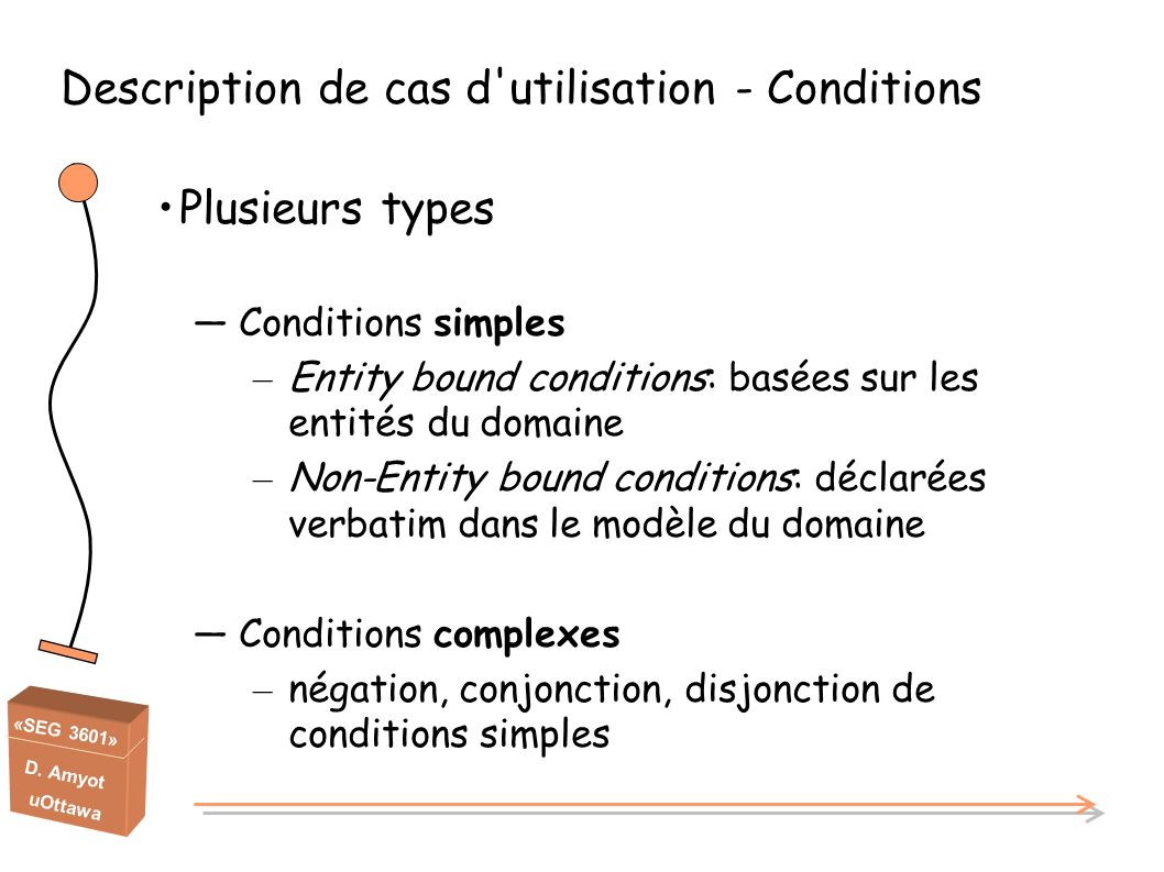 Description de cas d utilisation - Conditions