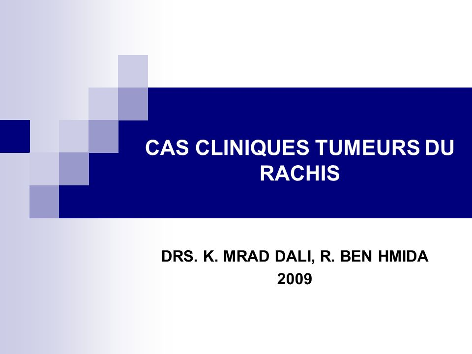 DRS. K. MRAD DALI, R. BEN HMIDA 2009