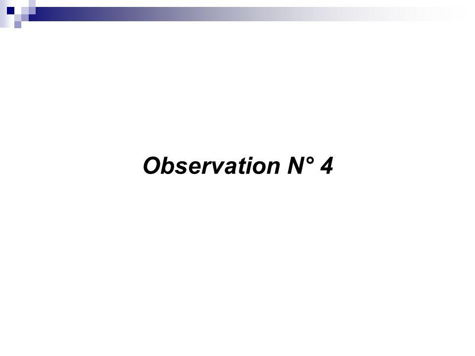 Observation N° 4