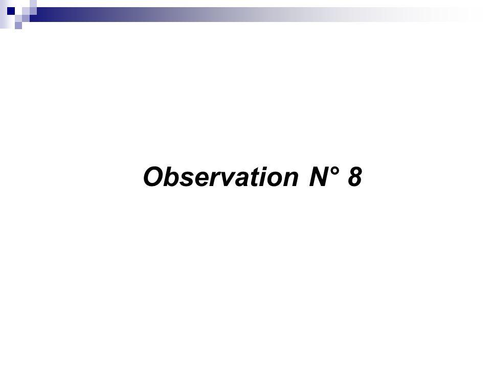 Observation N° 8