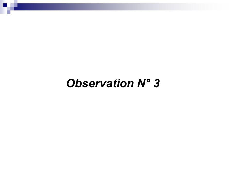 Observation N° 3