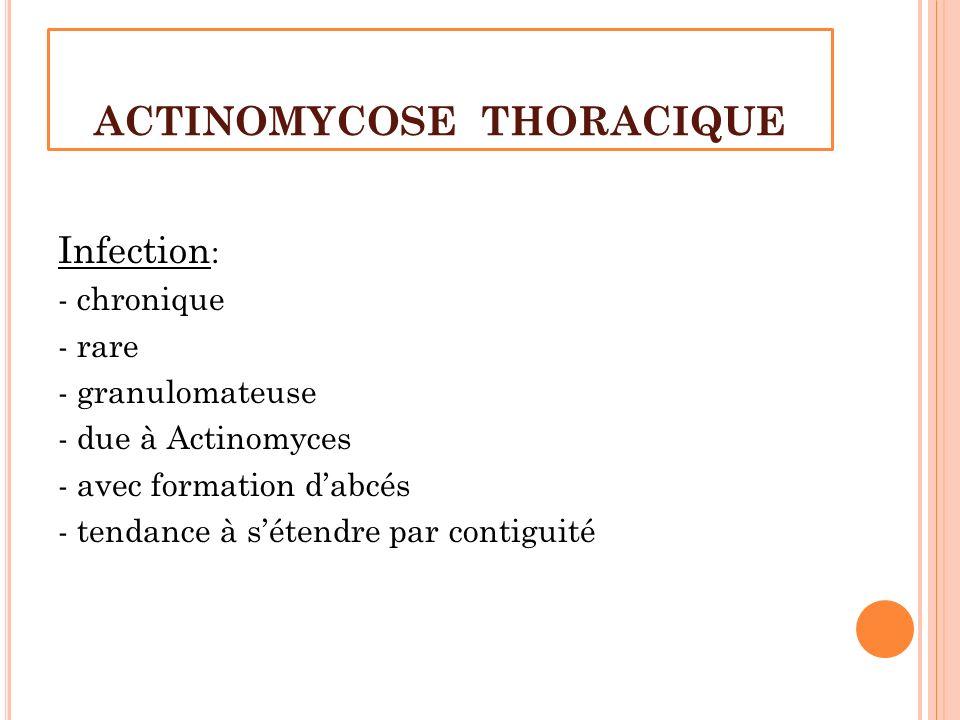 ACTINOMYCOSE THORACIQUE