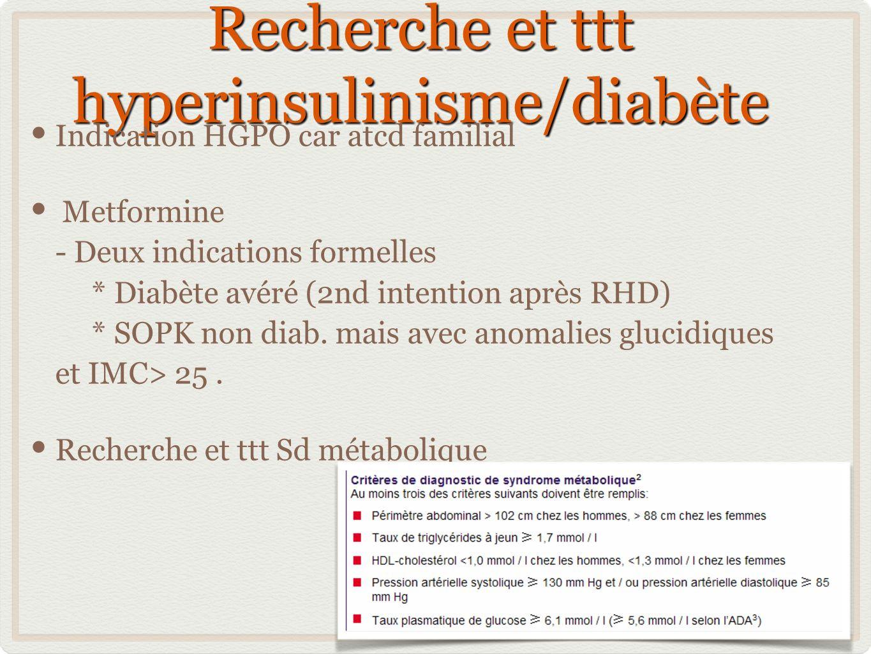 Recherche et ttt hyperinsulinisme/diabète