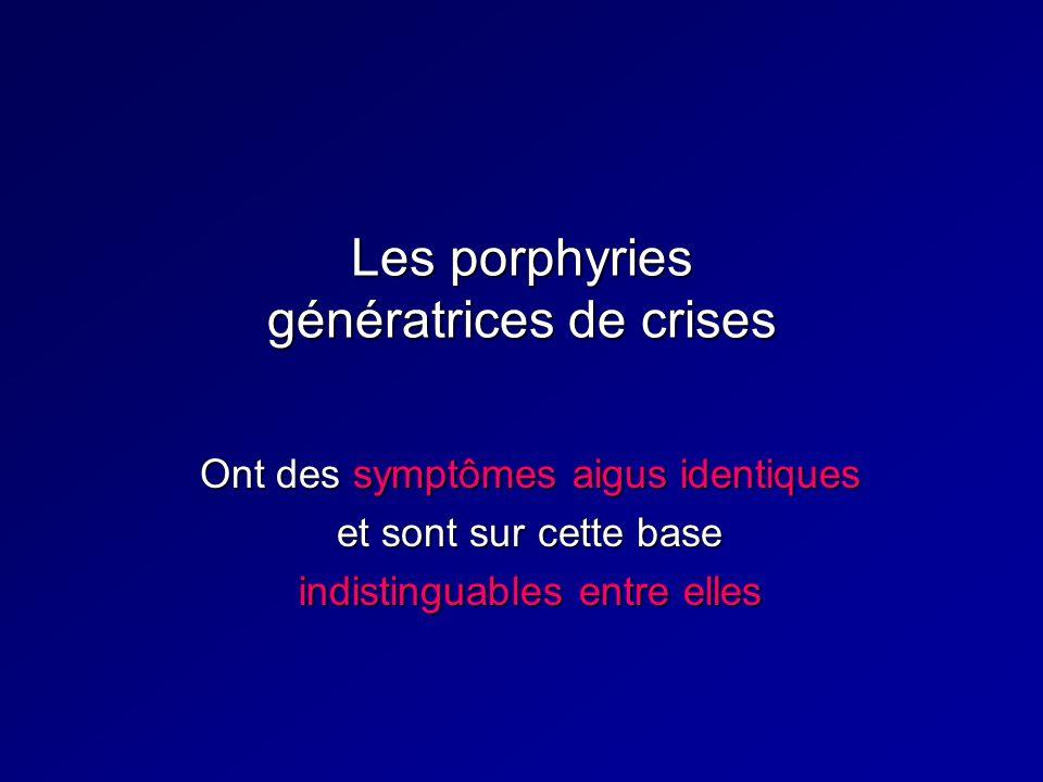Les porphyries génératrices de crises