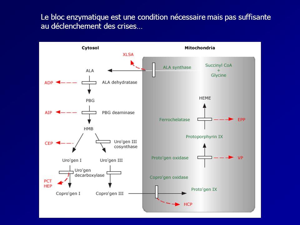 Le bloc enzymatique est une condition nécessaire mais pas suffisante