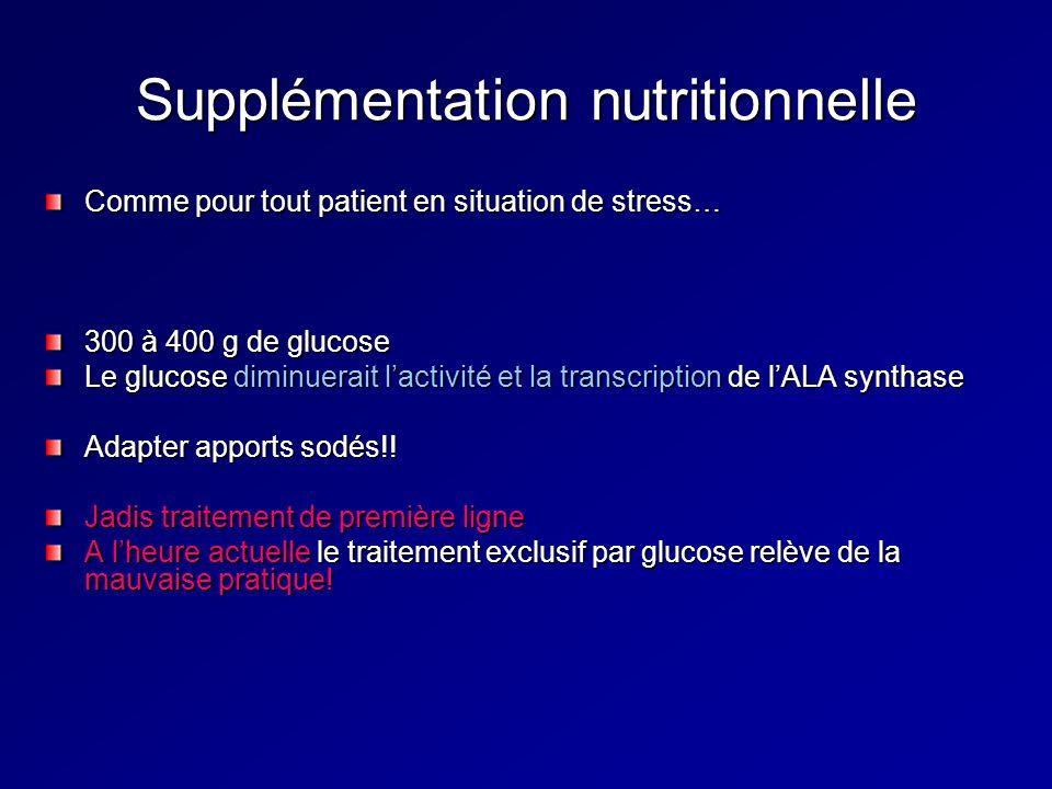 Supplémentation nutritionnelle