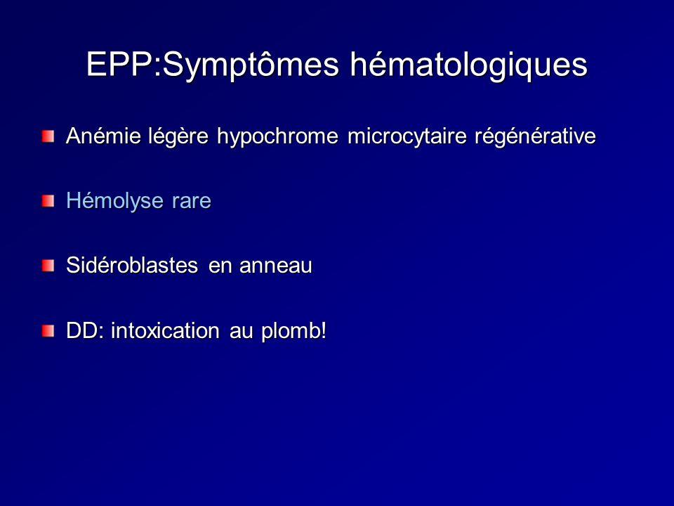 EPP:Symptômes hématologiques