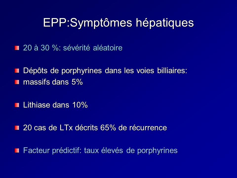EPP:Symptômes hépatiques