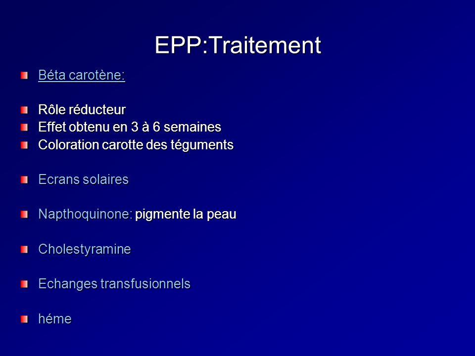 EPP:Traitement Béta carotène: Rôle réducteur