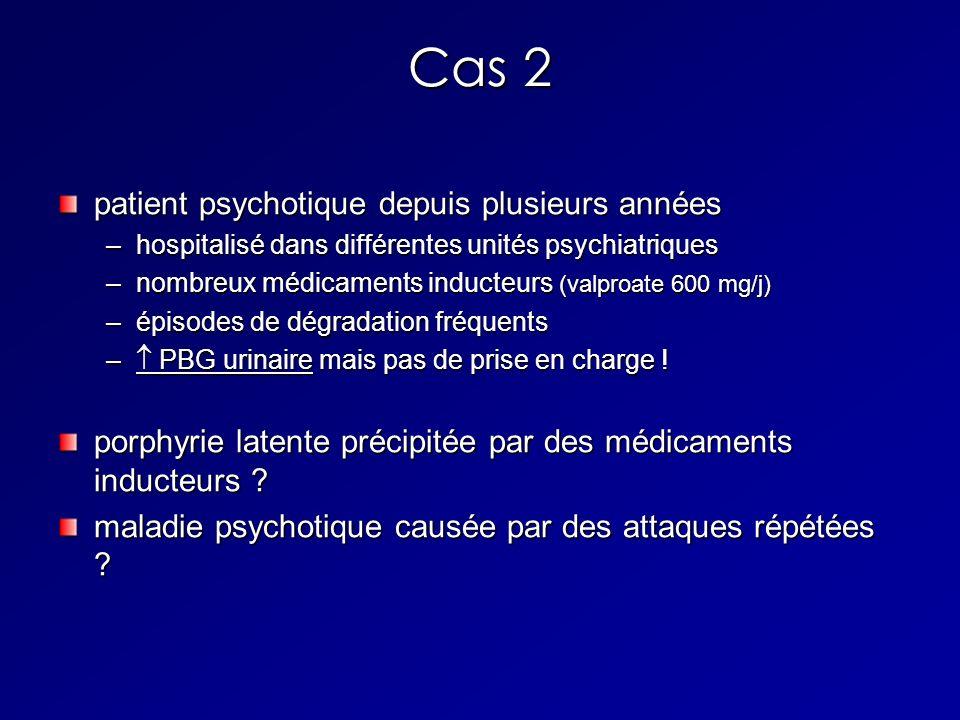 Cas 2 patient psychotique depuis plusieurs années