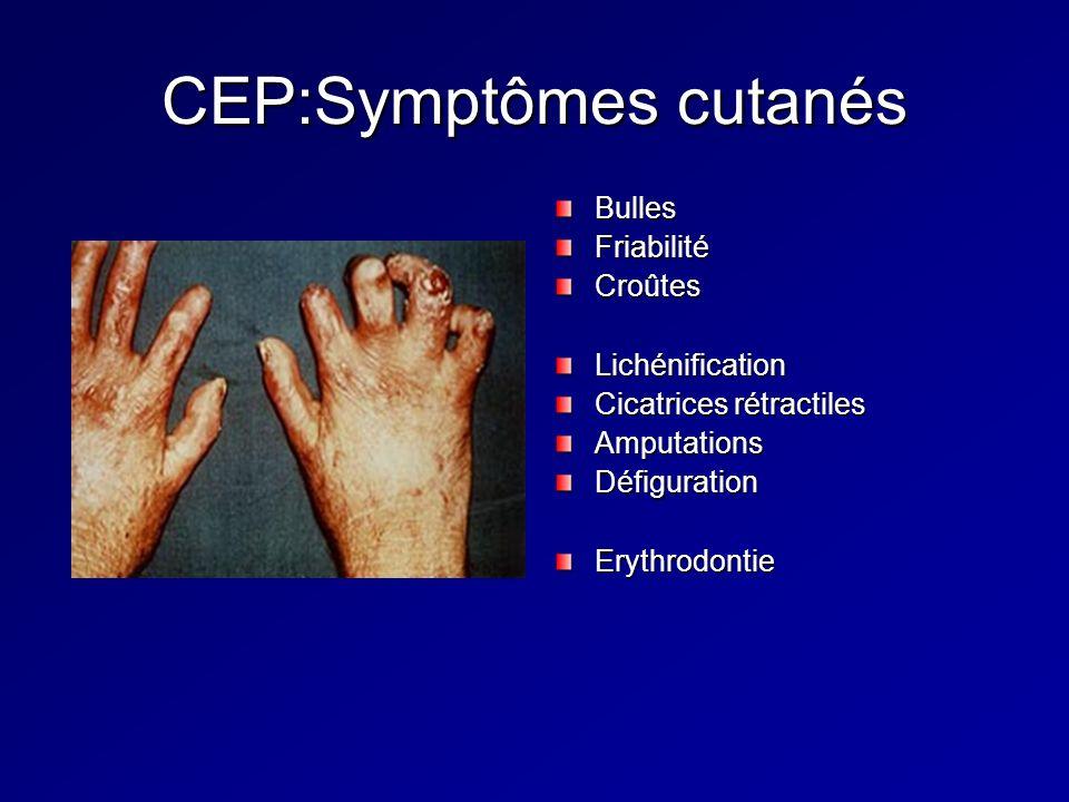 CEP:Symptômes cutanés