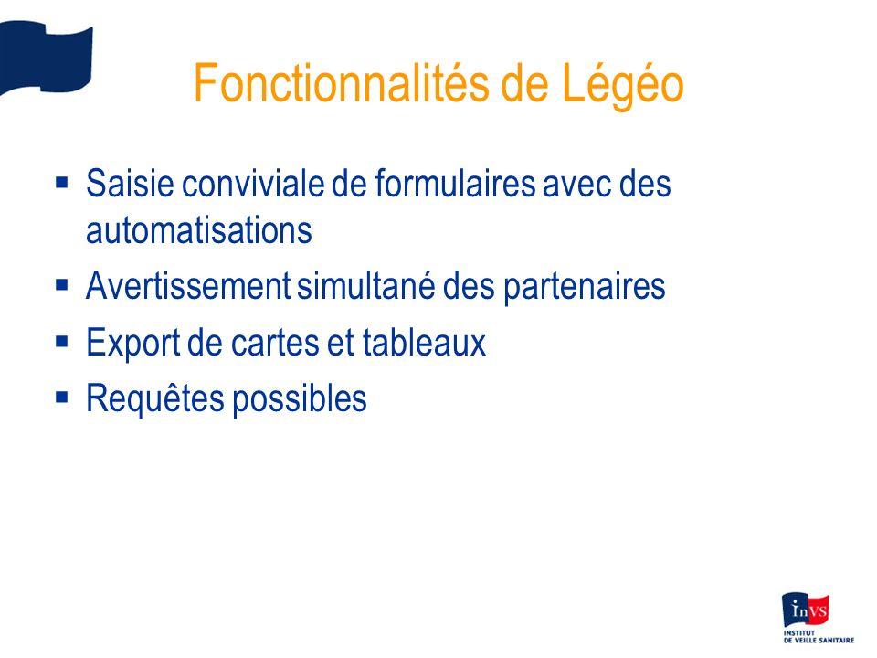 Fonctionnalités de Légéo
