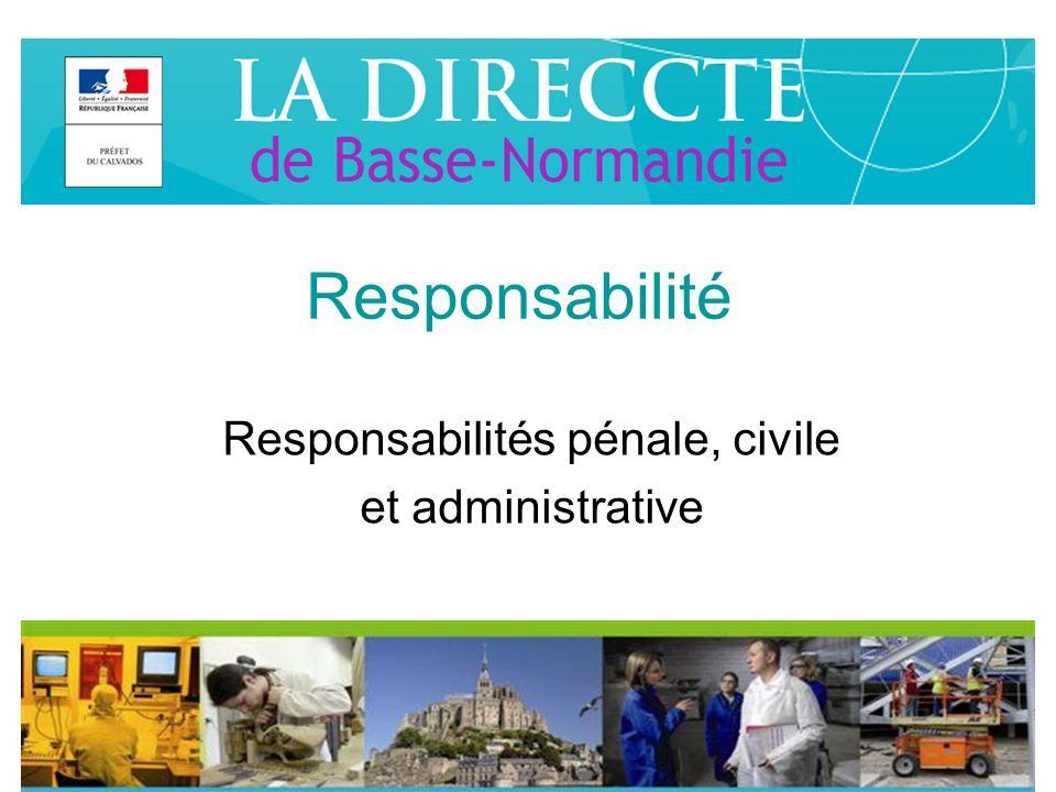 Responsabilités pénale, civile et administrative
